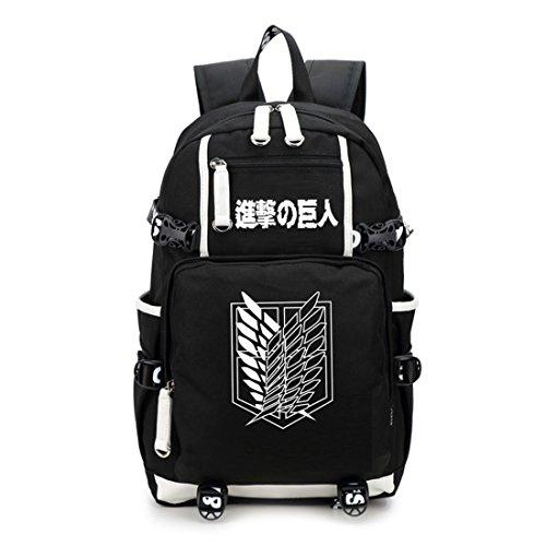 YoyosHome Tagesrucksack, Schultasche, japanisches Anime / Cosplay Angriff auf Titan