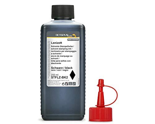 250 ml Solvent Stempelfarbe schwarz, auf Lösemittelbasis für nichtsaugende und nichtporöse Untergründe, lasierend