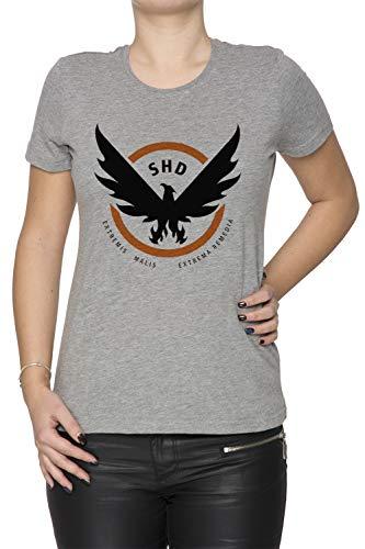 Erido The Division Femme T-Shirt Cou D'équipage Gris Manches Courtes Taille L Women's Grey T-Shirt Large Size L