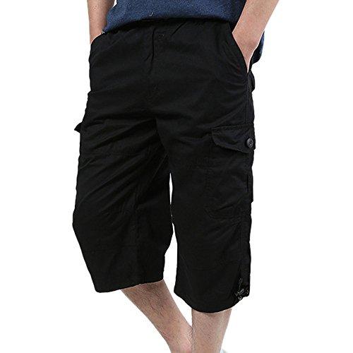 KaloryWee Cargohose für Männer Freizeithose Cordhose Modische Kurze Chino Shorts Overknee Trainingsanzüge Jogginganzug Stylische