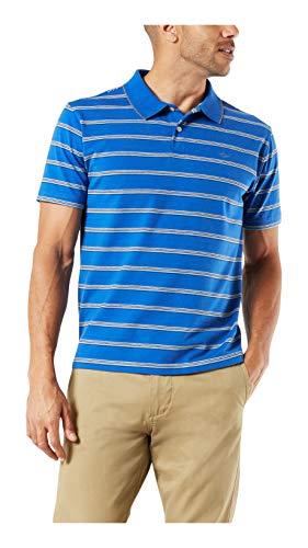 Dockers Polo à manches courtes pour homme - Bleu - Taille L