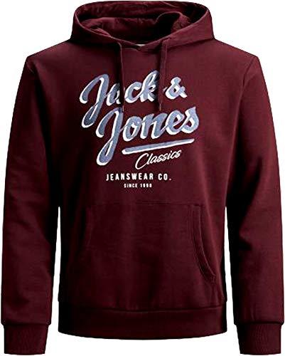 JACK & JONES Sudadera con capucha para hombre, talla grande, con logotipo 2, 3XL, 4XL, 5XL 1 puerto Royale XXXXL