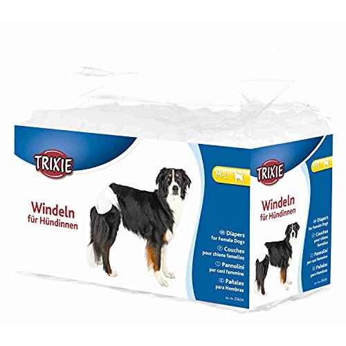 Trixie - Pannolini per cani femmine, taglia XS - S (20-28 cm), un pacco con 12 pannolini