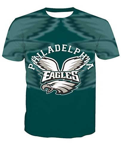 Hombres 3D Philadelphia Eagles NFL Patrón Uniforme
