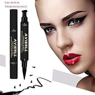 mirenesse cosméticos D.A.D definir arte 2en 1Grueso + fino 24horas Delineador de ojos líquido, color jet negro (1.4ml/0.05oz)
