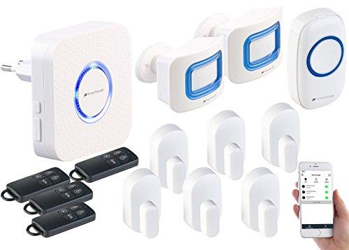 VisorTech Hausalarmanlage: 14-TLG. WLAN-Alarmanlage, Klingel, Alexa-kompatibel, bis 50 Sensoren (Alexa Alarm)