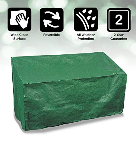Bosmere P410 Protector Plus voor tuinbank voor 3 personen, omkeerbaar, groen/zwart