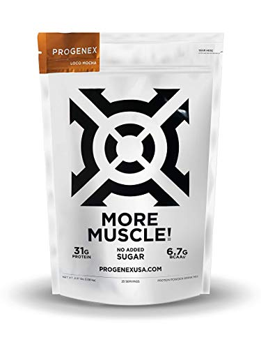 PROGENEX® More Muscle | No Added Sugar, Hydrolyzed Whey Protein Isolate Powder for Lean Muscle Gain. Best Tasting Low Carb Protein Shake for Women & Men. 25 Servings (Loco Mocha)