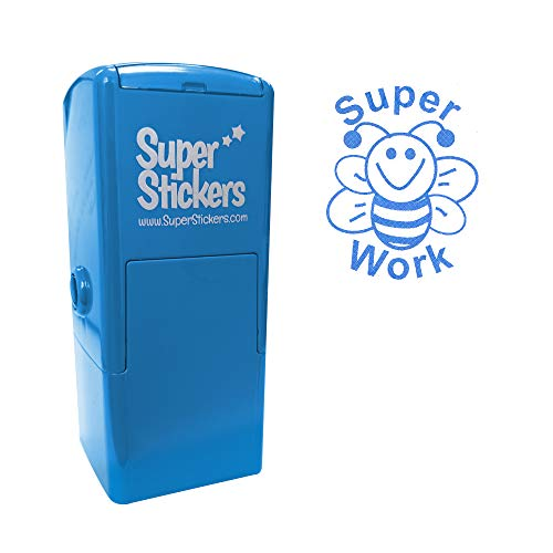 Stamper Solutions Super Work Bee Pre Inked Stamper - Blue