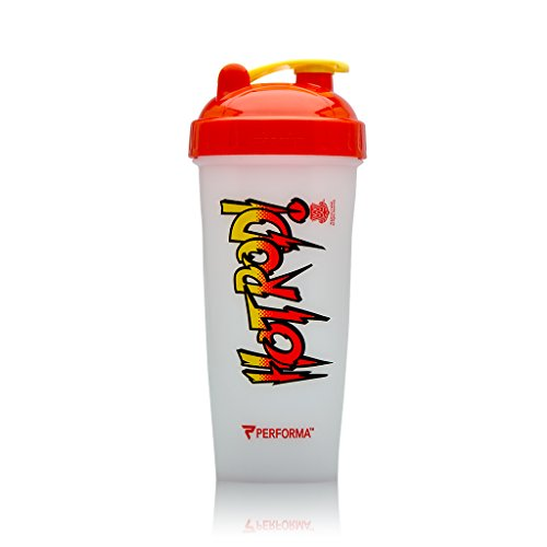 Performa Perfect Shaker - WWE Legends Series, Best Leak Free Bottle with Actionrod Mixing Technology for Your Sports & Fitness Needs! Dishwasher and Shatter Proof (Rowdy Roddy Piper)
