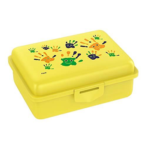 Fizzii Lunchbox (Inkl. Obst-/ Gemüsefach, schadstofffrei, spülmaschinenfest, Motiv: Hände)