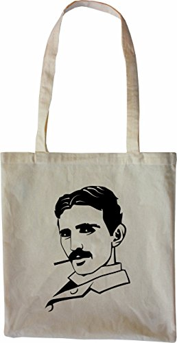 Mister Merchandise Tasche Nikola Tesla Stofftasche, Farbe: Natur
