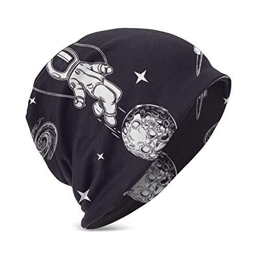 ZhangLinFu Bonnet en Tricot Bonnet tête de Mort Astronauts Pugs Astronaut People People Beanie Hat pour Mignon bébé garçon/Fille Doux Enfant en Bas âge Casquette pour bébé