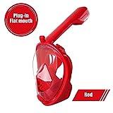ZJMWQ Erwachsener/Kind Full Face Snorkel Mask Kit Tauchermaske Vollmaske Tauchmaske Vollgesichts...