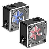 Vbestlife 6 medidor de Flujo de Impulsor para Sistema de refrigeración por Agua, Accesorios para Sistema de refrigeración por Agua Material acrílico + Pom Adecuado para PC