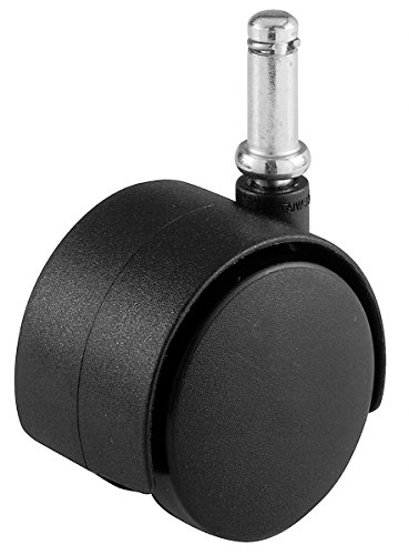 Pastor Hardware 9674 5,08 cm diámetro ruedas para silla de oficina, 7/16, 75-lb capacidad de carga