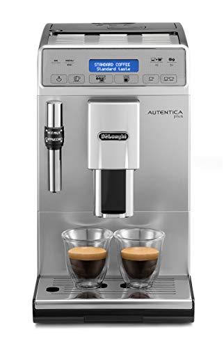De'Longhi Autentica Plus, Automatic Bean to Cup Coffee Machine, Cappuccino and Espresso Maker, ETAM29.620.S, Silver and Black