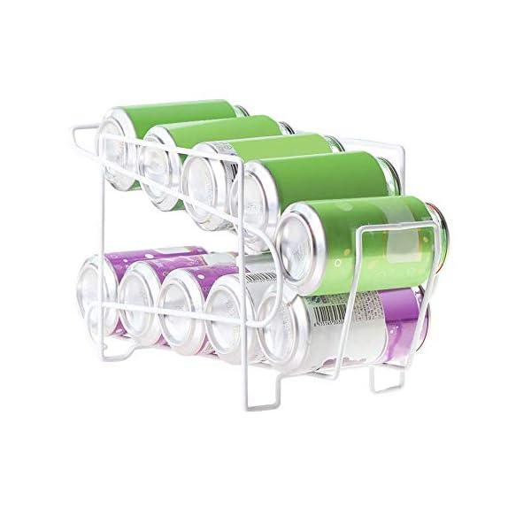 Yunhigh Dispensador de latas Bebidas para refrigerador 2 Niveles Pop refresco