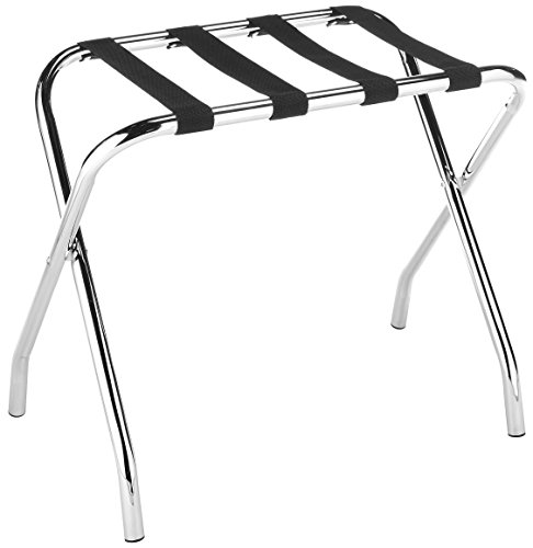Best Price! Whitmor Chrome Luggage Rack - Foldable - Commercial Quality