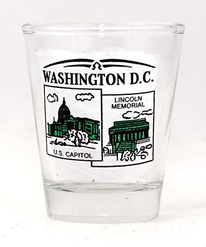Washington DC Scenery Green New Shot Glass