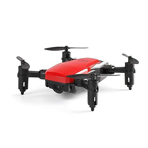 Drohne Mit Kamera Mini 720P HD Mit Faltbaren FPV Luftaufnahmen Outdoor Quadrocopter Pocket Start-Landung 360°-Flips Kopflos-Modus App Steuern Live übertragung Ferngesteuertes Flugzeug,Red