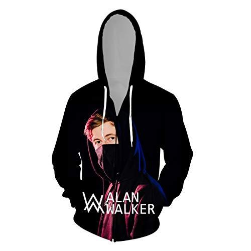 cshsb Alan Walker 3D DJ gedruckt Kapuzenpullover für Herren Fans Cool Hoodie Cool Pulli,A,3XL-4XL