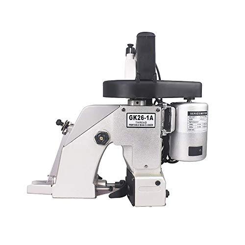 Máquina de coser eléctrica, máquina de coser de bolsas automática portátil, mini kit de máquina de coser y sellar de mano de 90 W 1250 rpm/minuto