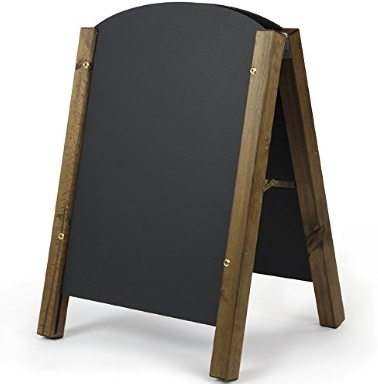 Chalkboards UK Standard Round Top A Frame Blackboard, Wood, Black