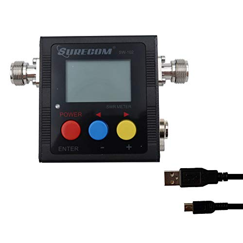 Gam3Gear Surecom SW-102S SO239 Connector Digital VHF UHF 125-525Mhz Power & SWR Meter with Ground Plate. Buy it now for 57.99