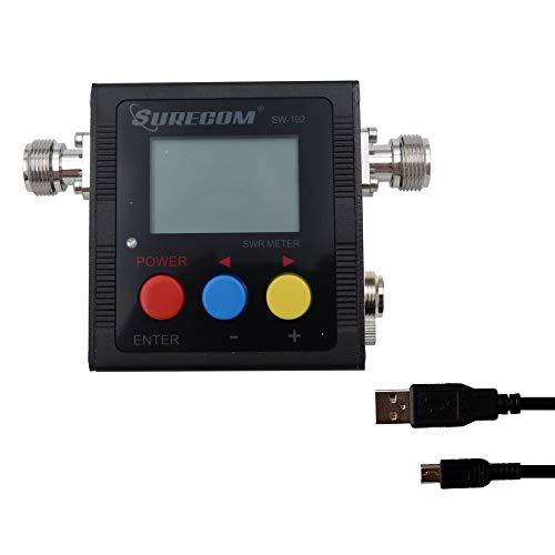 Mcbazel Surecom SW-102S SO239 Anschluss Digitales VHF UHF 125-525Mhz Leistungs- & SWR-Messgerät