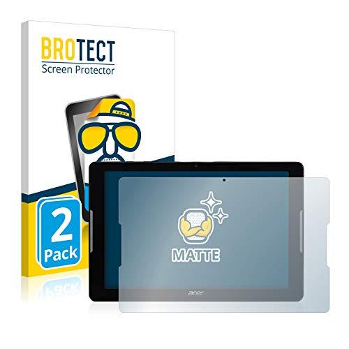 BROTECT 2X Entspiegelungs-Schutzfolie kompatibel mit Acer Iconia One 10 B3-A30 Bildschirmschutz-Folie Matt, Anti-Reflex, Anti-Fingerprint