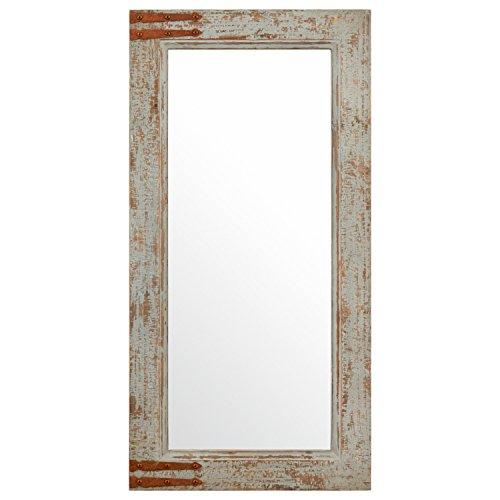 Amazon Brand – Stone & Beam Vintage-Look Rectangular Hanging Wall Frame Mirror Decor, 36.25 Inch...