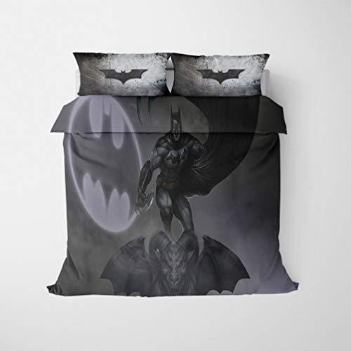 DFTY - Juego de cama infantil 100% microfibra Universe Movie Robin Joker DC Super Heroes reversible ropa de cama infantil con cremallera, estampado 3D (19,135 x 200 cm)
