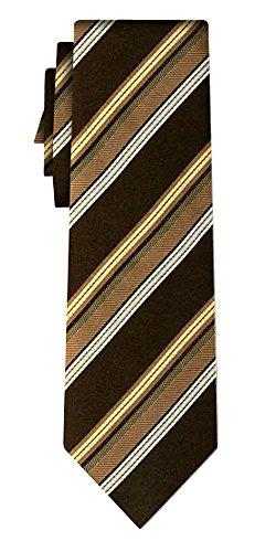Cravate soie rayée block stripe black gold