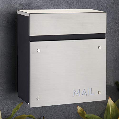 """BAILEY BOXES - 14.25""""H x 14""""W x 5.75""""D - Wall Mounted Architectural Locking Mailbox - The Dalton"""