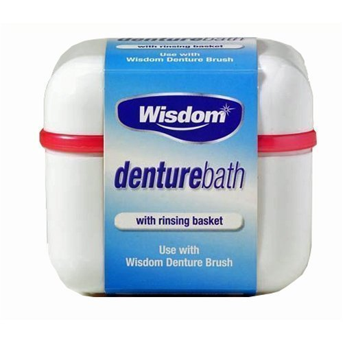 Wisdom Denture Bath With Rinsing Basket by Wisdom