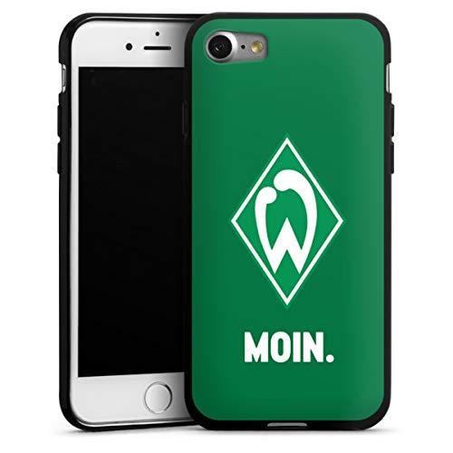 DeinDesign Silikon Hülle kompatibel mit Apple iPhone 7 Case schwarz Handyhülle SV Werder Bremen Offizielles Lizenzprodukt Moin