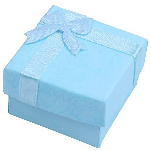 Kuinayouyi 12 cajas de regalo BlueJewelry para anillos, pendientes, pulseras, caja de regalo pequeña