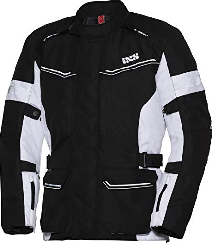 IXS Tour Evans-ST Damen Motorrad Textiljacke Schwarz/Weiß Damen 3XL
