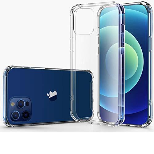 Hually Funda para iPhone12 Pro MAX, Suave TPU Gel Ultra Fina Protección a Bordes y Cámara Compatible con Carga Inalámbrica Enjaca Compatible, Borde de Silicona Suave Funda iPhone12 Pro MAX (6.7'')