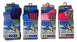 i-smalls Chaussettes de Ski Lot de 4 Long Thermique Haute Performance Enfants (31-34)