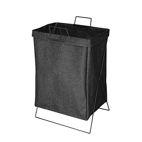 ZHONGTAI Cesta de lavandería de Estilo japonés Cesta de lavandería Plegable con...