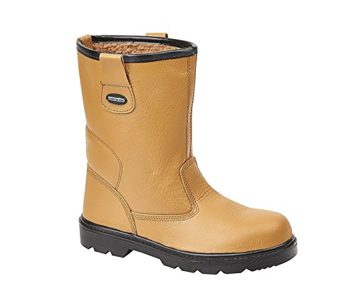 Tuffking 9050 S1P Mens Tan Fur Lined Steel Toe Cap Rigger Safety Boots Work Boot (9 UK)