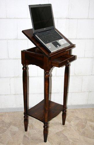 Casa Massivholz Rednerpult Stehtisch Schreibpult Lesepult Laptoptisch Notenständer kolonial