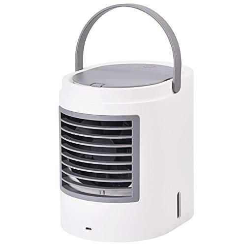 YUYI Climatizadores evaporativos Ventilador de Aire Acondicionado portátil USB, Mini Ventilador de Aire de evaporación Personal de 3 velocidades, Ventilador de enfriamiento de Escritorio pequeño, Ven