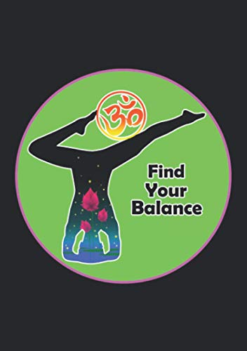 Notizbuch A5 liniert mit Softcover Design: Find your Balance - Finde deine Balance: 120 linierte DIN A5 Seiten