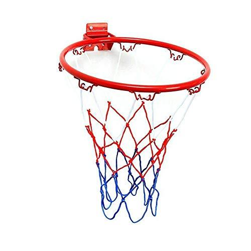 Estándar 32 cm Montado en la Pared Baloncesto Hoop Red Metal Rim Cesta Colgante Cesta-Ball Wall Rim W/Tornillos Deporte al Aire Libre Reemplazo