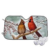 鳥 車用サンシェード カーフロントカバー フロントガラス 日よけ Uvカット 遮光 断熱 折り畳み式 簡単取付 S