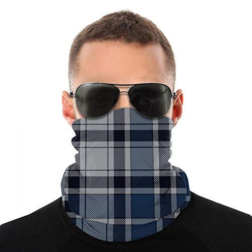 best pillow Blue Check Plaid Nahtloses Muster Bedrucktes Multifunktionstuch mit ausgefallenem Hochwertige Sturmhaube als Wärm- und Schutztuch - Halstuch, Face Shield, Gesichtsmaske