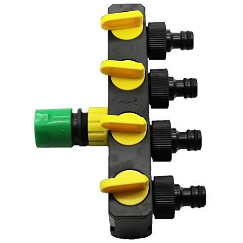 YHtech Las PC 1 derivación Converter Plus Huerto Conectores rápidos de riego for la Agricultura y la válvula de Control de Agua Industrial